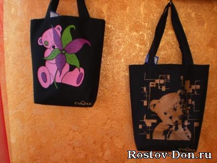 Модные сумки с авторскими принтами ДЕШЕВО!