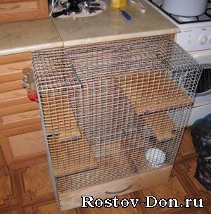Как самому сделать клетку для крысы 151