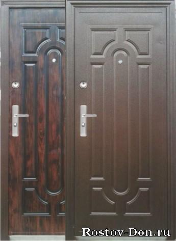 двери металлические двухсторонние мета